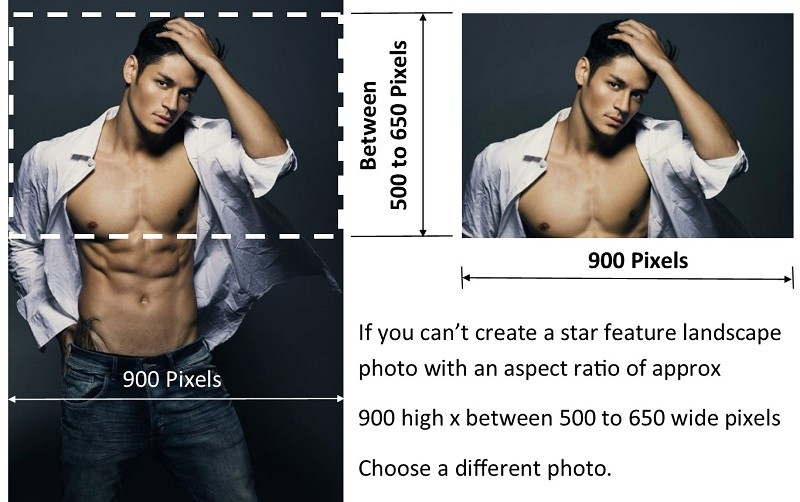 Male Escorts London Cropping a London Male Escorts Portrait Photo to Produce Your Feature Photo